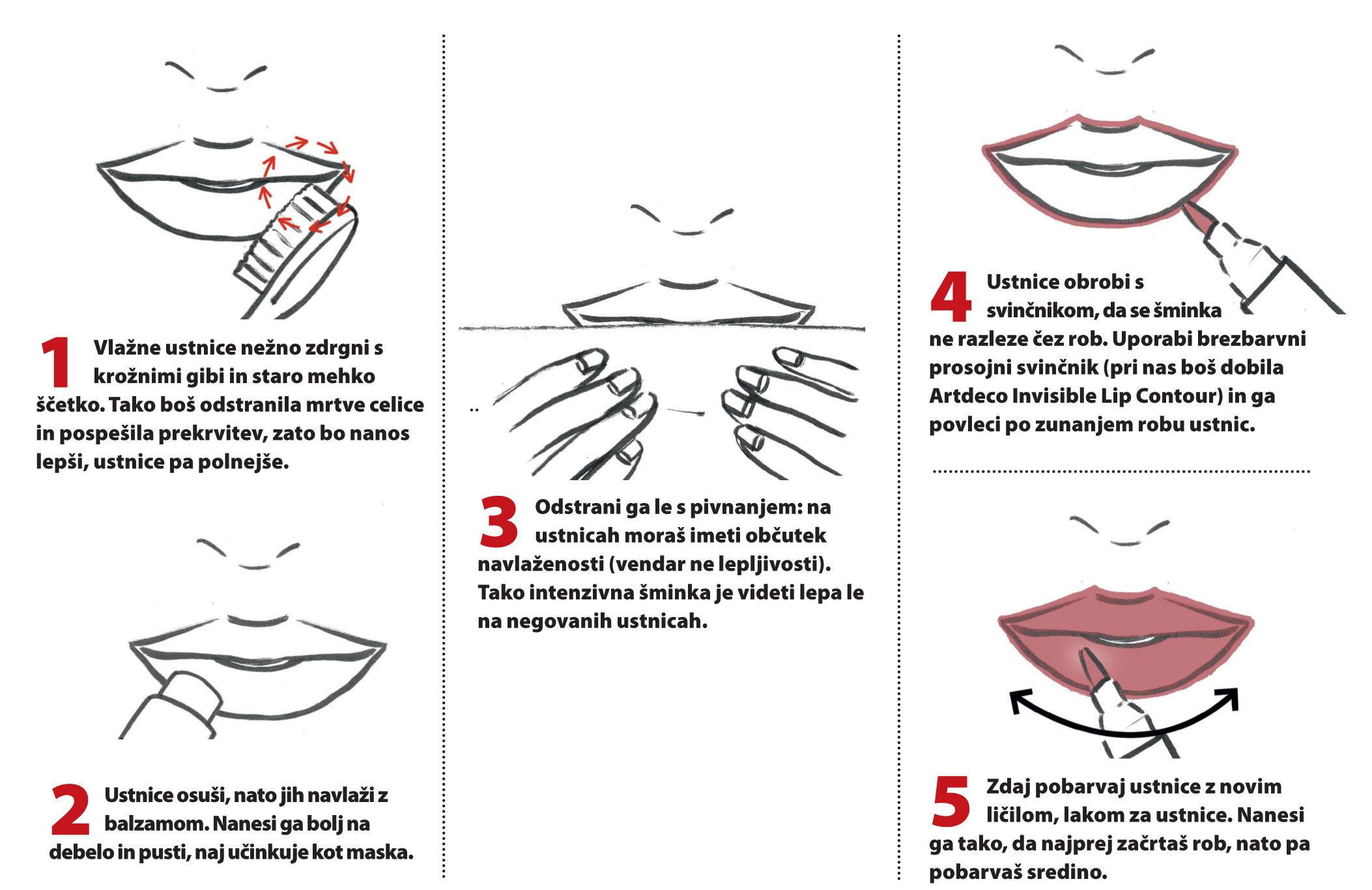 Zapeljive sočne ustnice