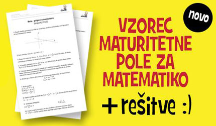 maturitetna pola za matematiko