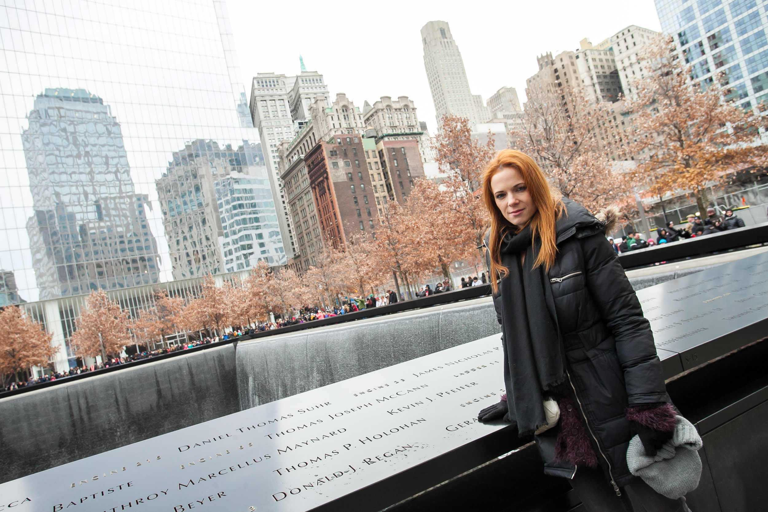 Popotnice so se ustavile tudi na točki Ground Zero  kjer sta nekoč stala dvojčka