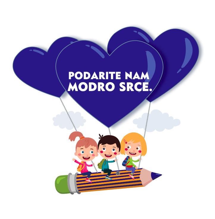 Svoja modra srca za akcijo NVIEA Podarite nam modro srce lahko oddate do 15. februarja
